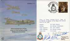 50th Anniv of the start design B 17 Fortress Signed 2 USA WW11 Ace's