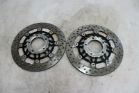 03 04 TRIUMPH DAYTONA 600 FRONT LEFT RIGHT BRAKE ROTORS DISCS