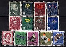 Schweiz Pro Juventute 1947,1949,1951, Mich-Nr 488-491, 541-544, 561-565 gestemp.