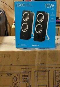 Logitech Z200 10W Multimedia Speakers, Pair - Black