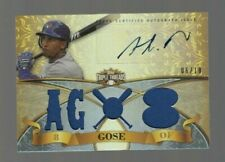 Anthony Gose 2013 Topps Triple Threads Autograph/Game Worn Jersey #06/18