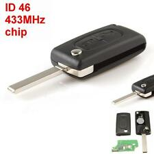 Replace 433MHz 2 Buttons Remote Car Key with ID46 Chip for Peugeot 207 307 308