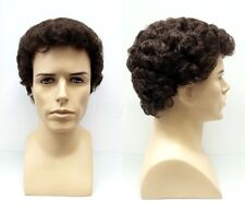 Brown #6 Short Curly Mens Synthetic Fashion Wig