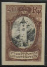 Liechtenstein stamps 1921 40RP Imperforated Colour PROOF UNG(as issued) VF