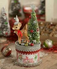 Bethany Lowe Designs Christmas Retro Red Nose Deer on Box