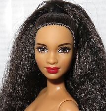 NUDE BARBIE ~ PETITE RAVEN BROWN EYES AA MBILI FASHIONISTA MATTEL DOLL FOR OOAK