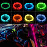 1/2/3/4/5M Led EL Wire Neon Glow Light + 3V/12V/USB Controller Car Party Decor
