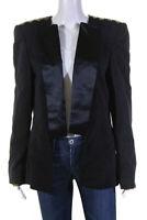 Camilla Womens Crystal Shoulder Dress Tuxedo Jacket Black Size Large