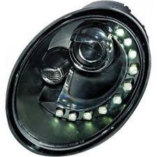 LHD Phares Projecteur Paire LED Dragon Transparent Noir H7 pour VW Beetle 05