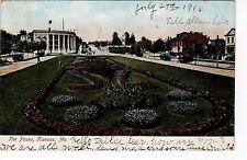 1906 Kansas City, MO Postcard - The Paseo - Undivided Back - Color - Postmarked