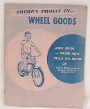 Vintage Catalog of Bicycles Velocipedes Pedal Cars Supplee-Biddle Phila PA 1950s