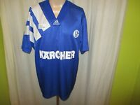 "FC Schalke 04 Original Adidas Heim Trikot 1994/95 ""Kärcher"" Gr.XL"