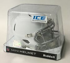 RIDDELL MATTE WHITE ICE SPEED FOOTBALL MINI HELMET - NEW IN RIDDELL BOX