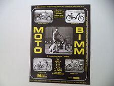advertising Pubblicità 1972 MOTO BIMM CROSS P/4 50/BILLO/EZ M/ P/3 T