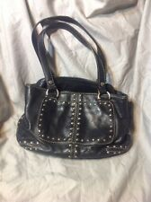 MICHAEL KORS ASTOR Small STUDDED SATCHEL IN BLACK LEATHER - Bad Strap