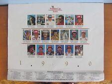 WINSTON CUP SERIES 1990 CALENDAR - PETTY WALLACE EARNHARDT MARTIN WALTRIP GANT