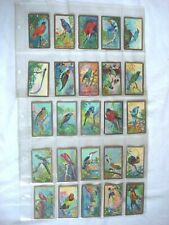 More details for antique cavanders cigarette card's - bird's - date 1926 - hand painted  full set