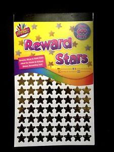 Reward Stickers Stars Gold Silver Bronze Teacher School Children Kids X 600+STAR