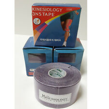 3 Rolls Sport Bandage Tape Medical Muscles Care Tex Elastic Therapy Purple