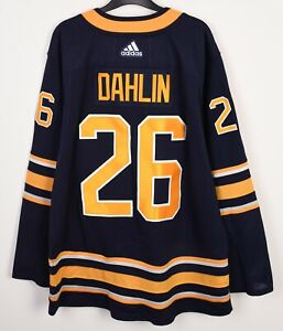 BUFFALO SABRES stitched DAHLIN Jersey Mens 40 Adidas NHL embroidered Shirt M Tee
