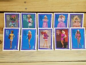 Barbie Collectible Fashion Trading Card Lot 10 1989 cards, Mattel '90