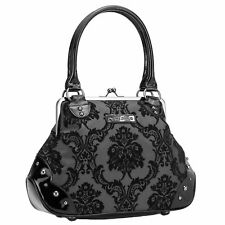 GG ROSE BY ROCK REBEL Mistress Midnight Black Floral Womens Handbag Purse NEW