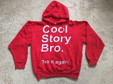 "Pacific & Co Boys Sweatshirt Kids SZ Small ""Cool Story Bro"" Red"