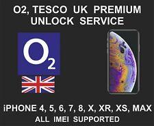 O2 UK Premium Unlock Service, fits iPhone 4, 5, 6, SE, 7, 8, X, XR, XS, MAX