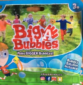 Zing Big A Bubbles Kids 3 Pack Find Bubble Solution Wand New Pirate,Duck,Lion