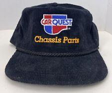 Vintage Car Quest - Chassis Parts Black Corduroy Snapback Rope Hat Cap