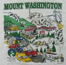 Vintage Screen Stars MOUNT WASHINGTON NH Funny Cartoon 2 Sided T Shirt Size XXL