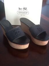 Coach platform leather/fabric shoes in box sz. 8M