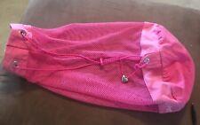 Juicy Couture Mesh Beach Sling Bag Large Travel Gym Drawstring Pink Black