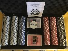 WSOP Endorsed Professional 300 11.5 Gram Poker Chip Set NIB