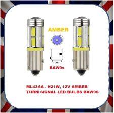 2x LED Amber Indicator Light Bulb 21w HY21W -Fits Citroen C4 Grand Picasso 06>16