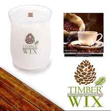Timber Wix Wooden Wick Soy Candles FRESH COFEE 14oz., 100Bh Natural US Grown Soy