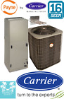 4 Ton 16 Seer AC Split Unit By CARRIER Condenser & Air handler With Heat Strip