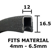 BLACK PROTECTIVE EDGE TRIM SJ465 - Interior Exterior - PVC EDGING Rubber