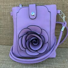 Lilac Rose Small Bag with Smart Phone Spectacle Holder Long Cross Body Strap