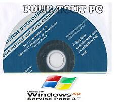 CD Windows XP PRO SP3 + Clé d'activation authentique. Neuf