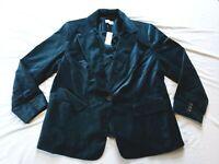 LOFT Women's Plus Velvet Modern Blazer AB3 Teal Size 18 NWT