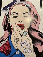 Lana Del Rey Signed Poster. 12x18