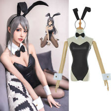 Rascal Does Not Dream Sakurajima Mai Bunny Girl Cosplay Costume Bodysuit Black