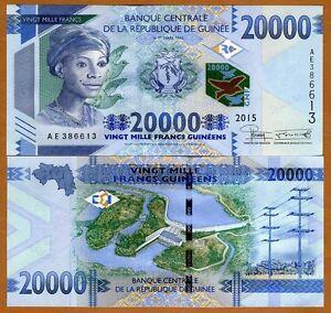 Guinea, 20000 (20,000) francs, 2015, P-50, UNC > New Denomination