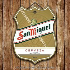 San Miguel Beer Advertising Bar Old Pub Metal Pump Badge Shield Steel Sign