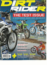 DIRT RIDER,   NOVEMBER, 2013 ( THE TEST ISSUE 27 BIKES RIDDEN, RACED, USED, &