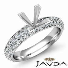Princess Semi Mount Diamond Engagement Eternity Style Ring 14k White Gold 1.08Ct