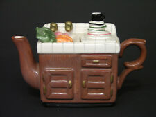 Vintage Mini Teapot Shaped Like Kitchen Sink, Ceramic Made in China 1960s/70s