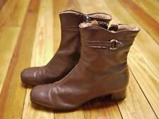 Vintage 70s LEATHER Fleece Lined Rain Snow BOOTS 8.5 M 39 Womens