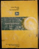 John Deere Mähdrescher 952 Betriebsanleitung